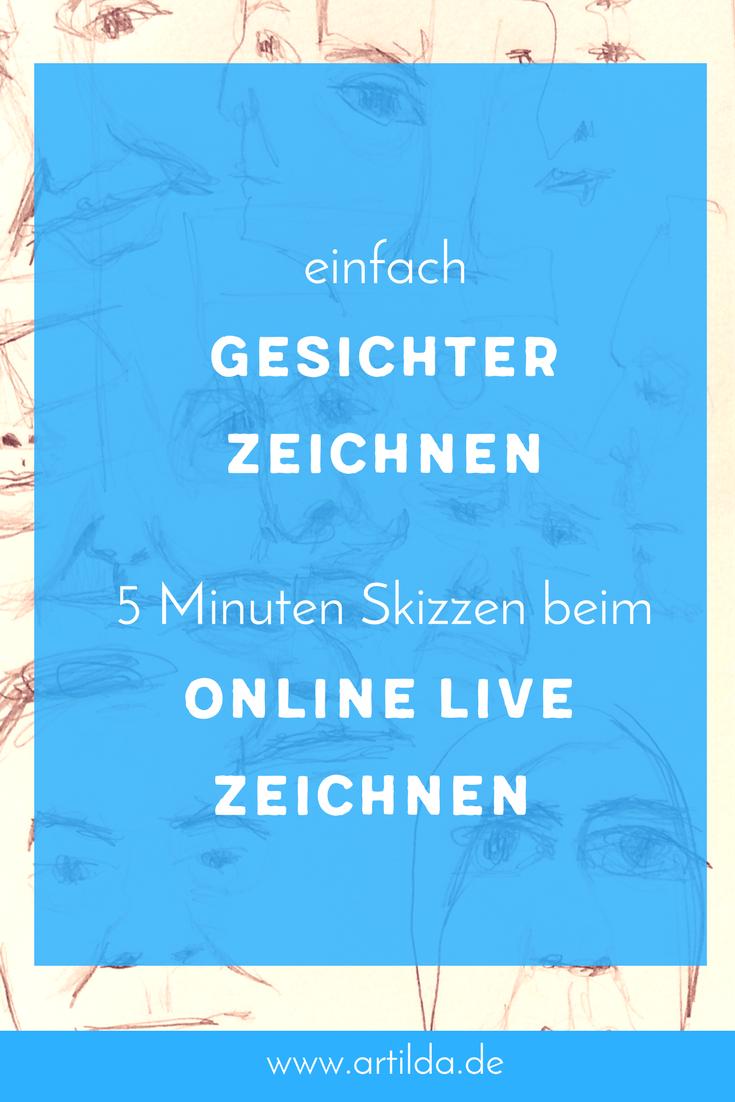 Porträtieren: Ganz entspannt beim online live Zeichnen • artilda.de