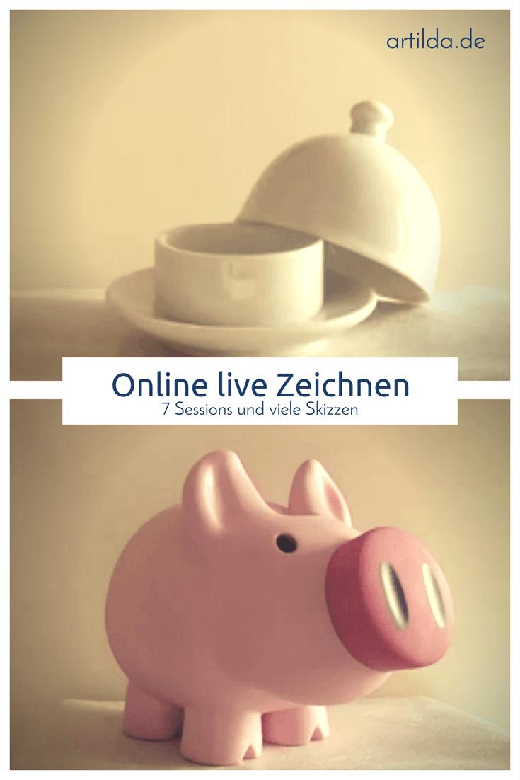 Online live Zeichnen: verschiedene Objekte in einer Session • artilda.de