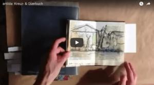Individuelles Art Journaling: Blick in das Kreuz und Querbuch