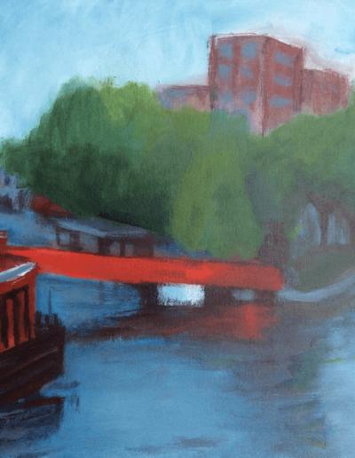 Amsterdam die rote Brücke