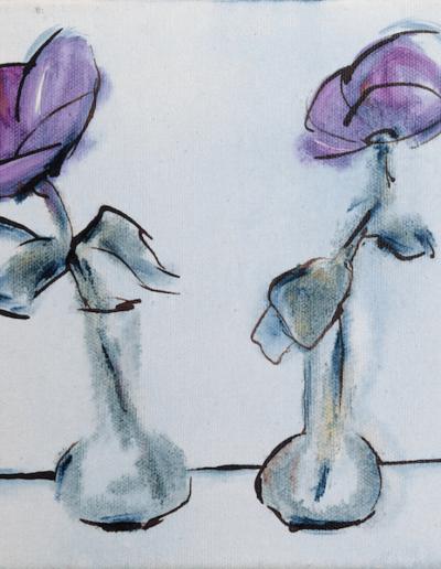 Rosendals Blumen in Vasen