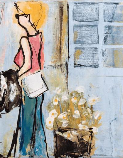 Rosendals Frau an der Tür