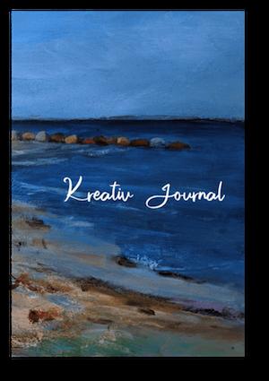 Acrylbild: Dänischer Sommer am Meer. Cover des Kreativ-Journals.