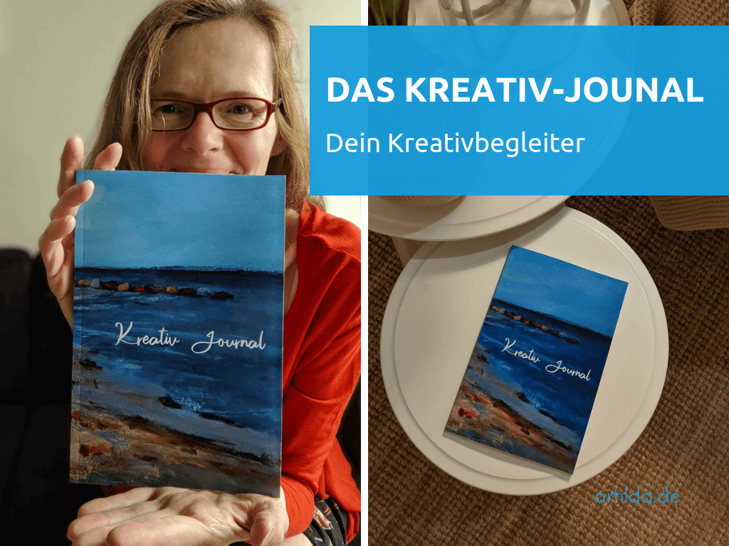 Eva Peters mit Kreativ-Journal