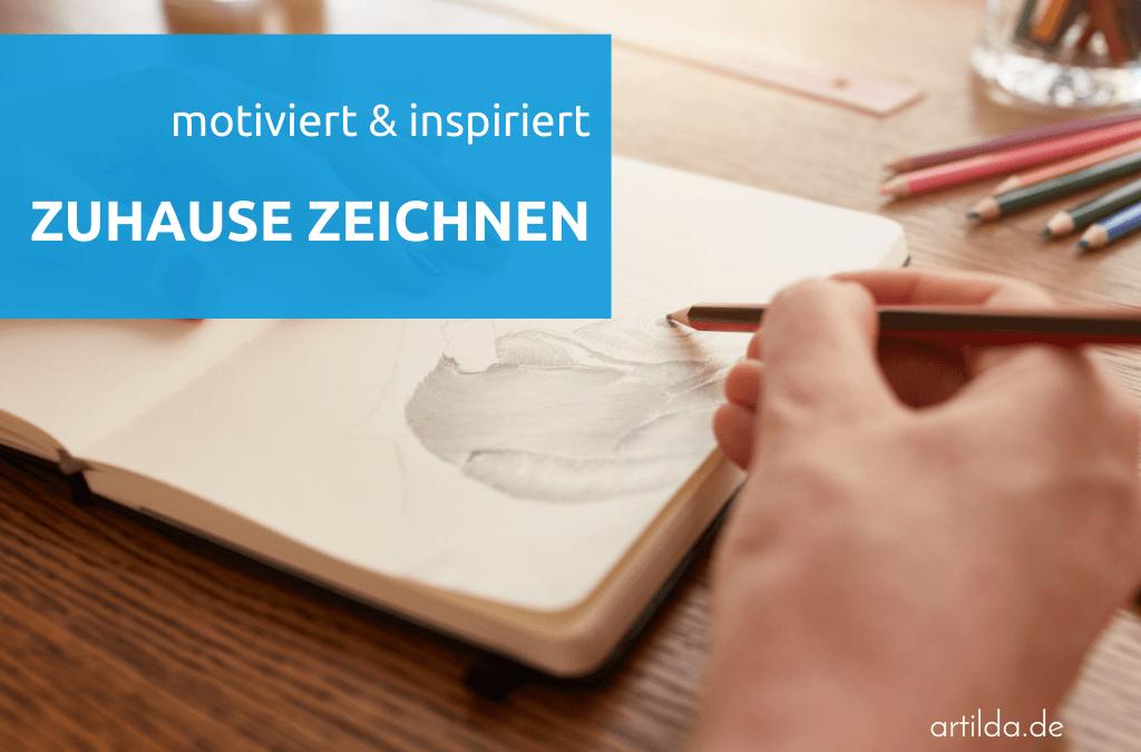 zeichnen zuhause im Skizzenbuch